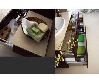 מגירות אמבטיה רחבה