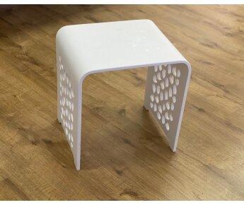 ספסל קוריאן 40 חלוקי נחל לבן