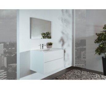 ארון אמבטיה Cubic חזית לבנה