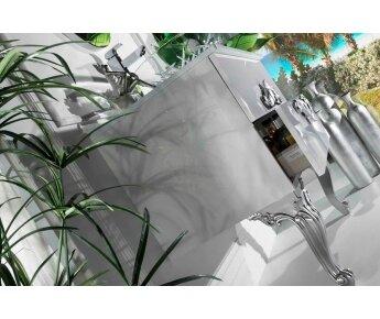 ארון אמבטיה ECO CLASSIC לבן זהב - ארון אמבטיה ECO CLASSIC