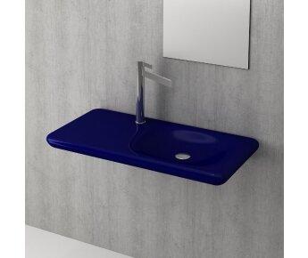 כיור משטח תלוי  FENICE כחול מבריק