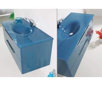 ארון אמבטיה Aqua Blue Glass