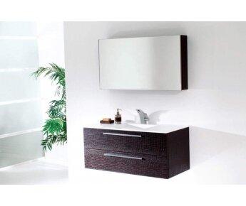 ארון אמבטיה Aqua Leather Dark Crocodile