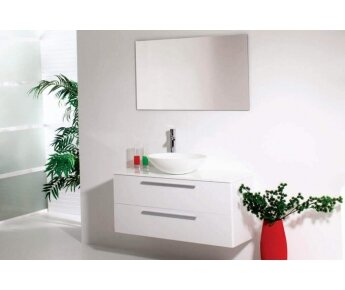 ארון אמבטיה Aqua Radius Shiny White