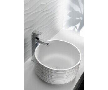 כיור רחצה עגול בגוון לבן - 1_1400147830