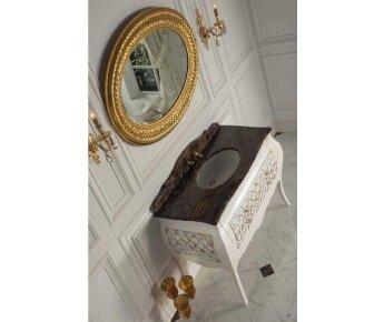 ארון אמבטיה עם משטח שיש טבעי