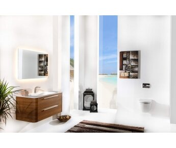 ACQUA RADIUS ארון אמבטיה דגם עץ
