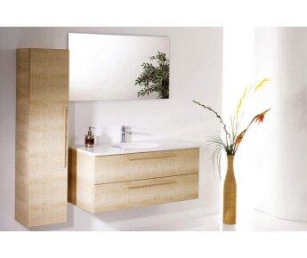 ארון אמבטיה Aqua Leather Beige
